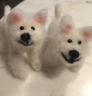 Felted pups