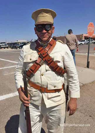 Mexican Military outfit from the era of 1916. White cotton keeps you cool!