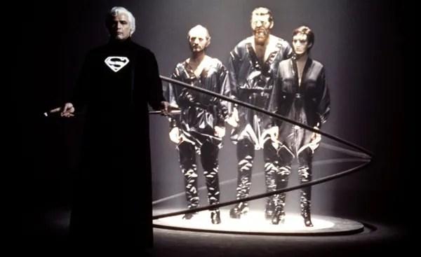 Jor El (Marlon Brando) puts General Zod on trial in 'Superman II'