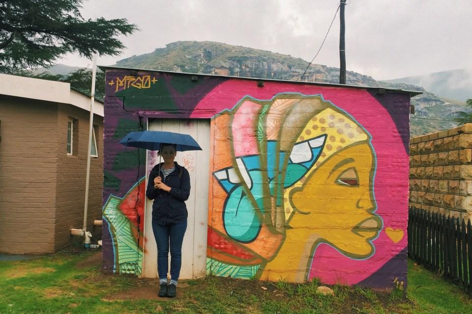 clarens free state street art graffiti