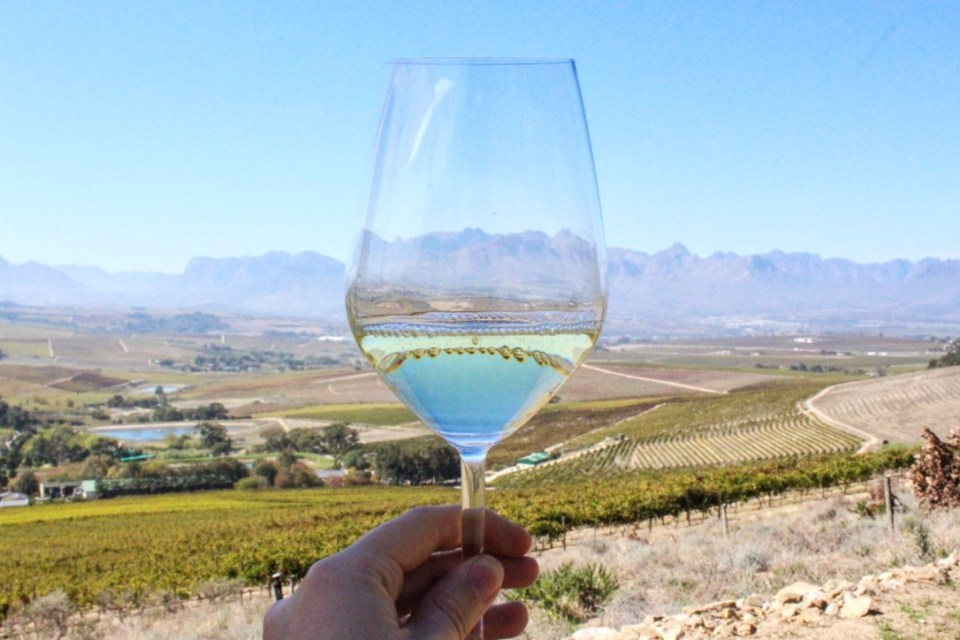 Cheers to the wine from Jordan Wine Estate