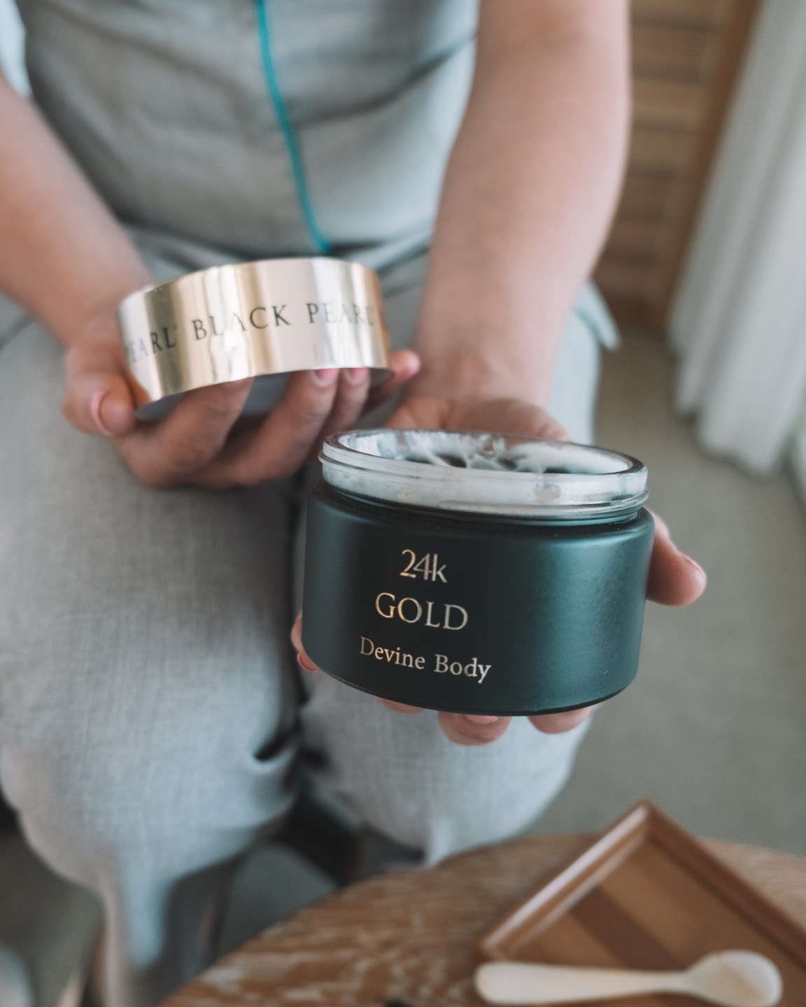 black pearl gold body butter treatment