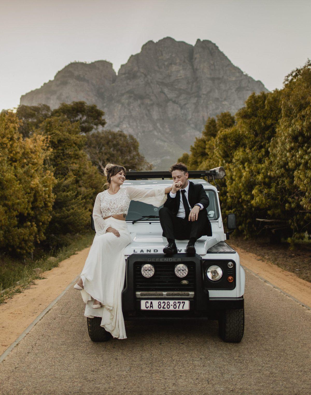 Natalie Keenan Mulvaney Wedding Landrover Boschendal