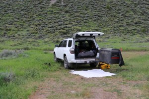 Our 4Runner camping setup
