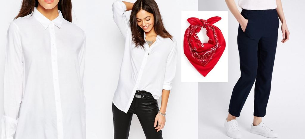 The Bandana Gives A Vintage Americana Style To Your Usual White Shirt Look Play With Jewelry Belts And Scarves They Will Elevate Youll