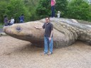 Javier and his award winning Turtle at the Children's Garden