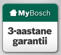 Bosch garantii 3-aastat!