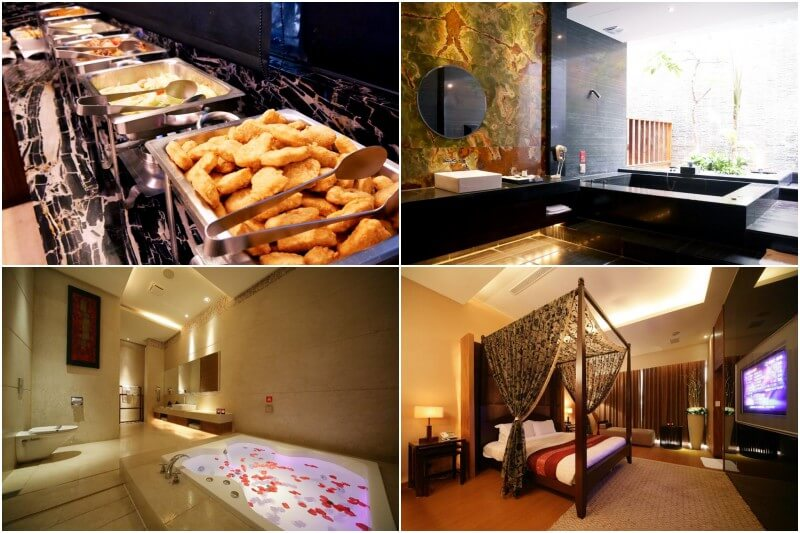Enjoy karaoke, hot tubs and breakfast bar at Moonshy Boutique Motel in Taichung.