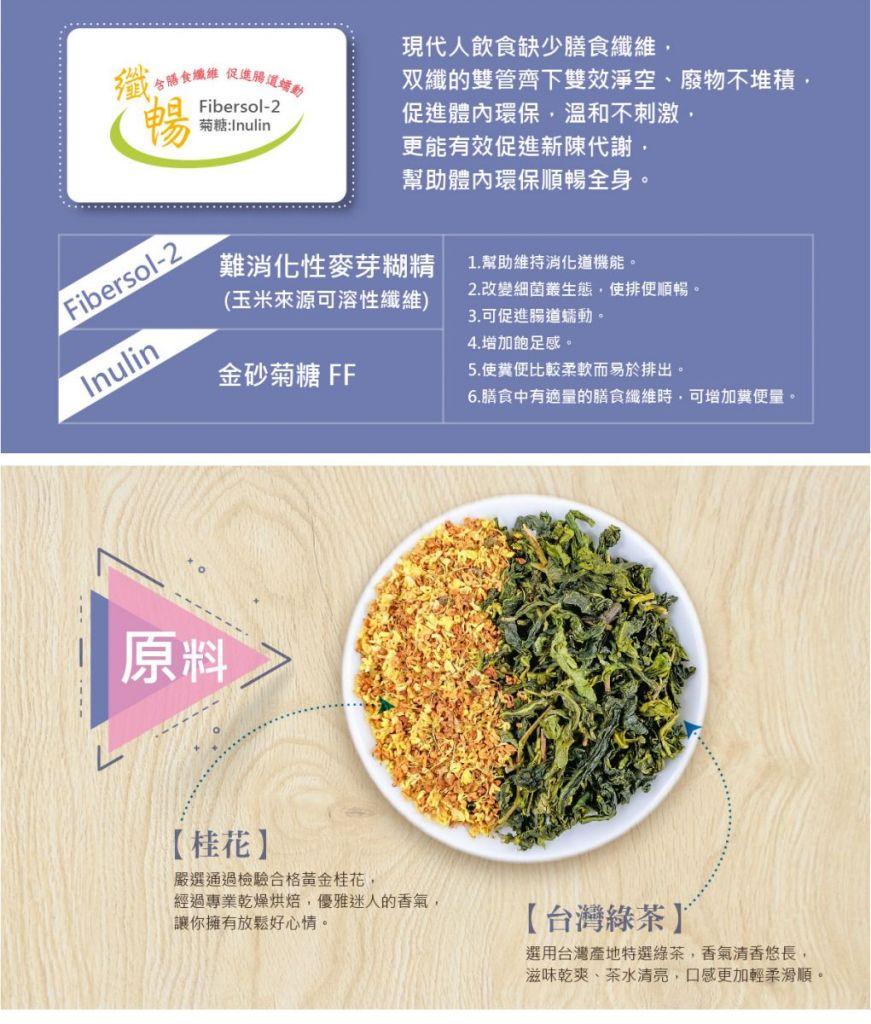 纖暢桂花綠茶成分