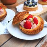 蒔初甜點,動漫巷內的甜點店,脆皮草莓泡芙,草莓鮮艷迷人~