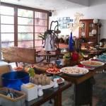 藍洞意式廚房|點餐附自助沙拉吧吃到飽 花草時尚紅土城堡建築 20多年在地老餐廳
