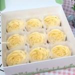 台中團購Cream Tea.如夢幻般的美味玫瑰花造型檸檬塔,每日限量製作,一等數月是常態,想吃真的要有耐心,食尚玩家報導