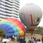 台中也出現熱氣球了!除了起球表演及熱氣球吊籃拍照外,還可以走進熱氣球體驗唷~