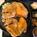 小莊壽司|大胃王必吃 豬排套餐有誇張 雞排套餐更浮誇 麥茶免費喝 向上路旁附停車場