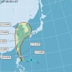 輕颱丹娜絲海警發布,全台10縣市發布高溫資訊,請民眾多注意