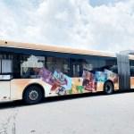 全國首輛迪士尼主題彩繪雙節公車在台中 8/24還有拍照打卡快閃活動
