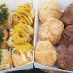 沙鹿麻糬燒創始店,一開攤就大爆滿!8種口味可任搭,一盒只要銅板一枚~