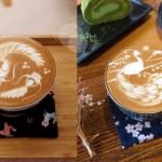 Yasumi cafe│台中最強拉花,孔雀和金魚及蝴蝶躍入咖啡中