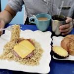 台中港式早餐│剛剛出爐正宗港式早餐來啦!菠蘿油、午餐肉撈丁都好吃
