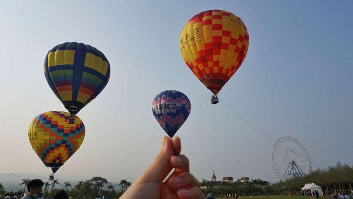 2021 04 02 232823 - 台中也有熱氣球!繽紛療癒好好拍,還可體驗熱氣球繫留,從天空俯視整座城市