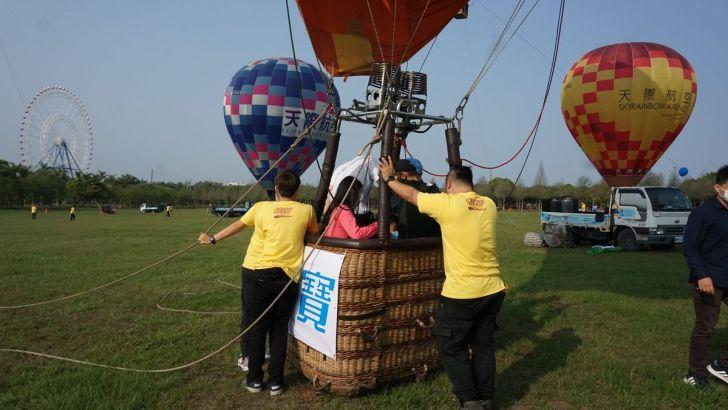 2021 04 02 233133 - 台中也有熱氣球!繽紛療癒好好拍,還可體驗熱氣球繫留,從天空俯視整座城市