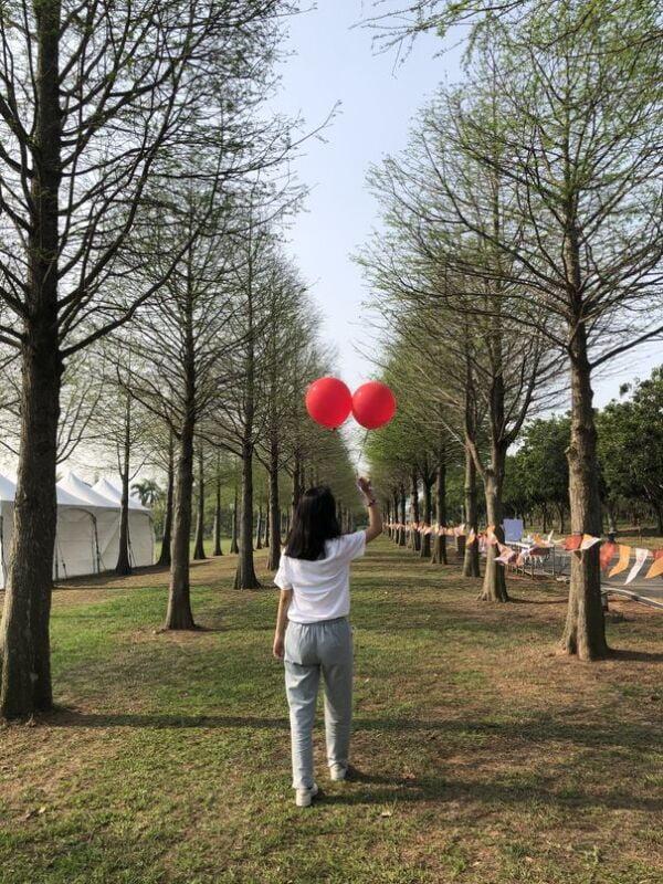 2021 04 02 233326 - 台中也有熱氣球!繽紛療癒好好拍,還可體驗熱氣球繫留,從天空俯視整座城市