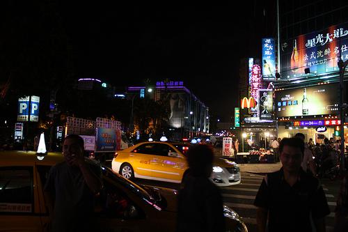 台湾の林森北路の夜