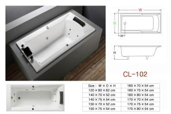 壓克力浴缸 - CL-102