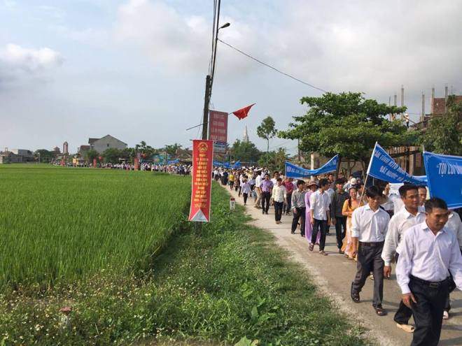 Protesters in Nghệ An Province Vietnam