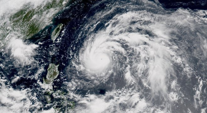 satellite image of typhoon Nepartak