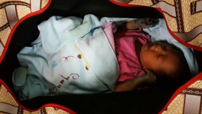 abandoned baby girl