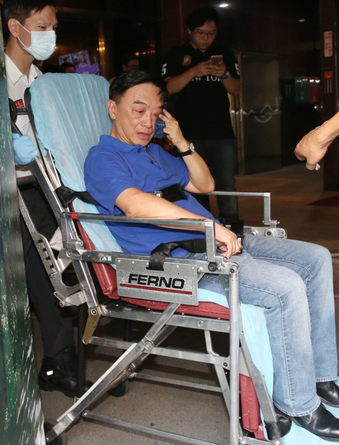 KMT legislator Chen Yimin shown visibly shaken after being attacked by DPP member Su