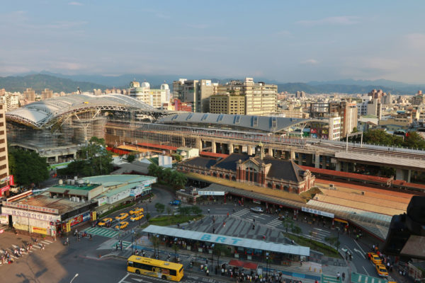 Taichung Railway Station new and old