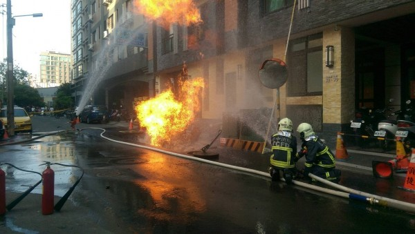 firefighters in Taichung City