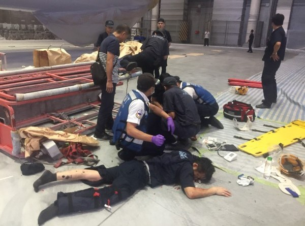 injured aircraft maintenance personnel