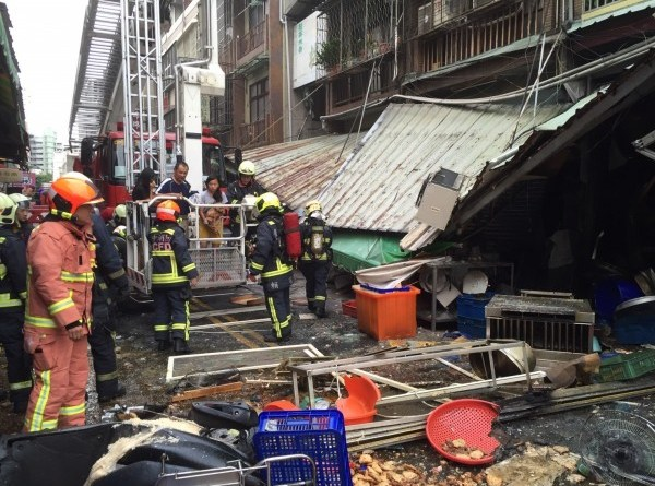 shop destroyed by gas explosion