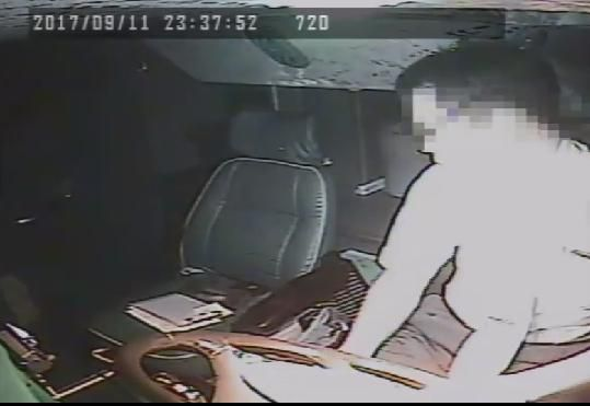 driver seen rummaging around and not paying attention while in control of a bus