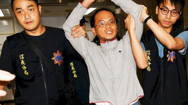 labor activist Lee Ming-yan after his arrest