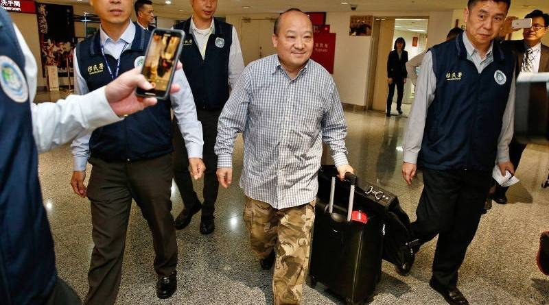 Chinese agent deported from Taiwan