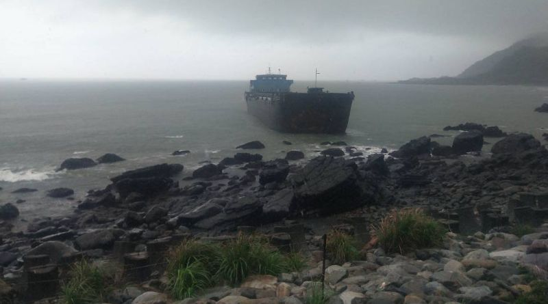 ship aground in Yilan County, Taiwan