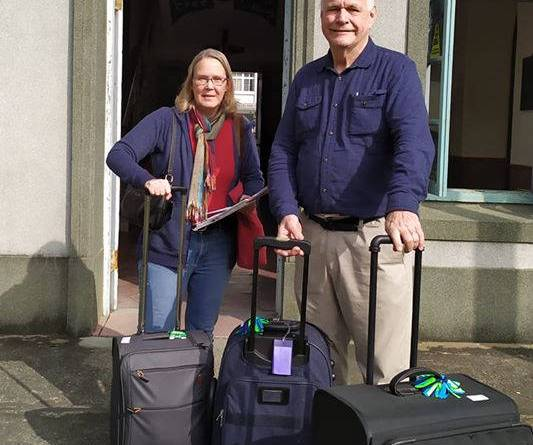David and Charlene Alexander arrive in Tainan City January 7, 2020