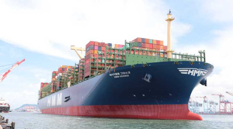 HMM Gdansk at Port of Kaohsiung, Taiwan, 2020