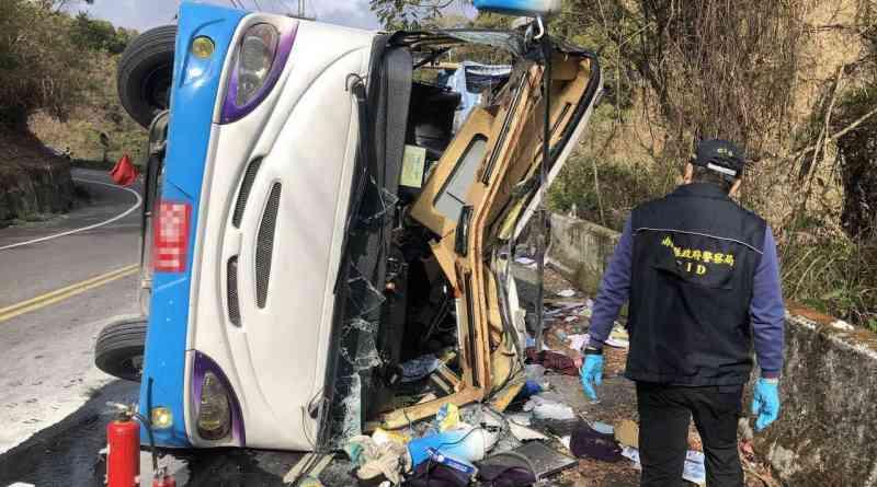 wreck of bus after crash
