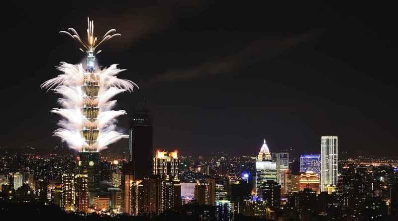 Taipei 101 Taipei City New Year's Eve fireworks