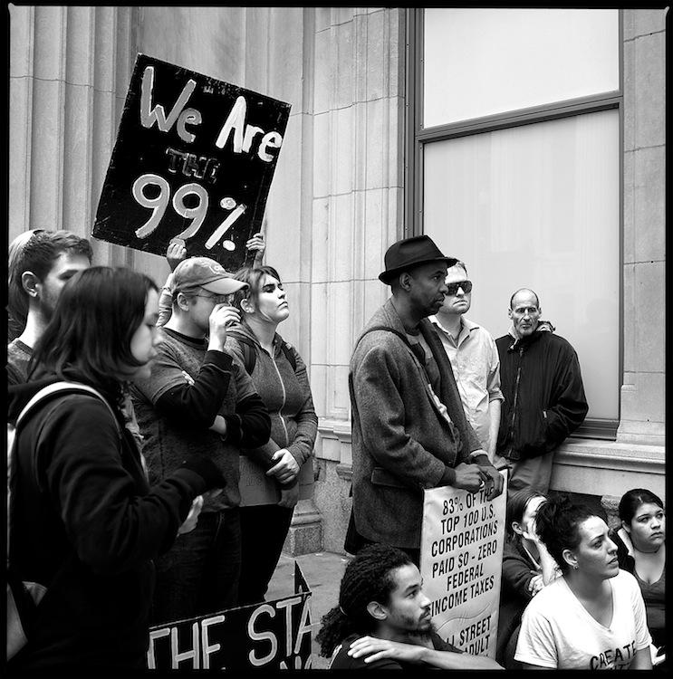 華爾街上的民眾抗議(圖片來源:Taradji)