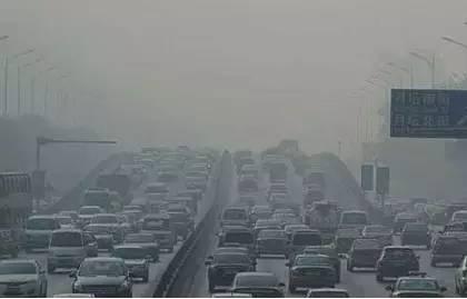 中國大陸城市塵霾景象