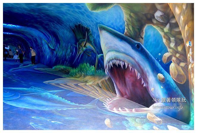 宜蘭蘇澳景點祝大魚3D彩繪360度海底隧道07134