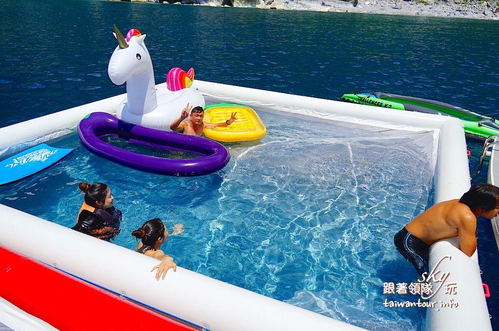 花蓮活動推薦-海上無邊際泳池party【鯨彩悠活俱樂部】