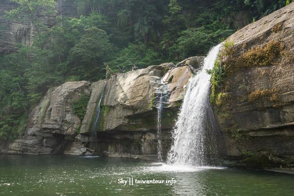 台北景點推薦-平溪秘境詭異氛圍【嶺腳瀑布.石窟大瀑布】