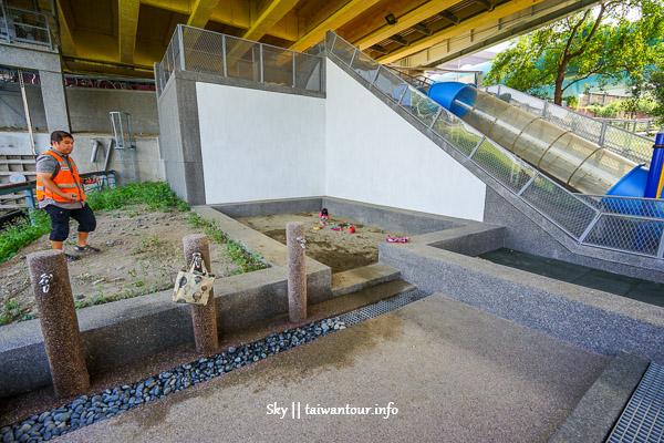 2019台北親子景點【永福橋下】雨天備案.公館水岸公園溜滑梯